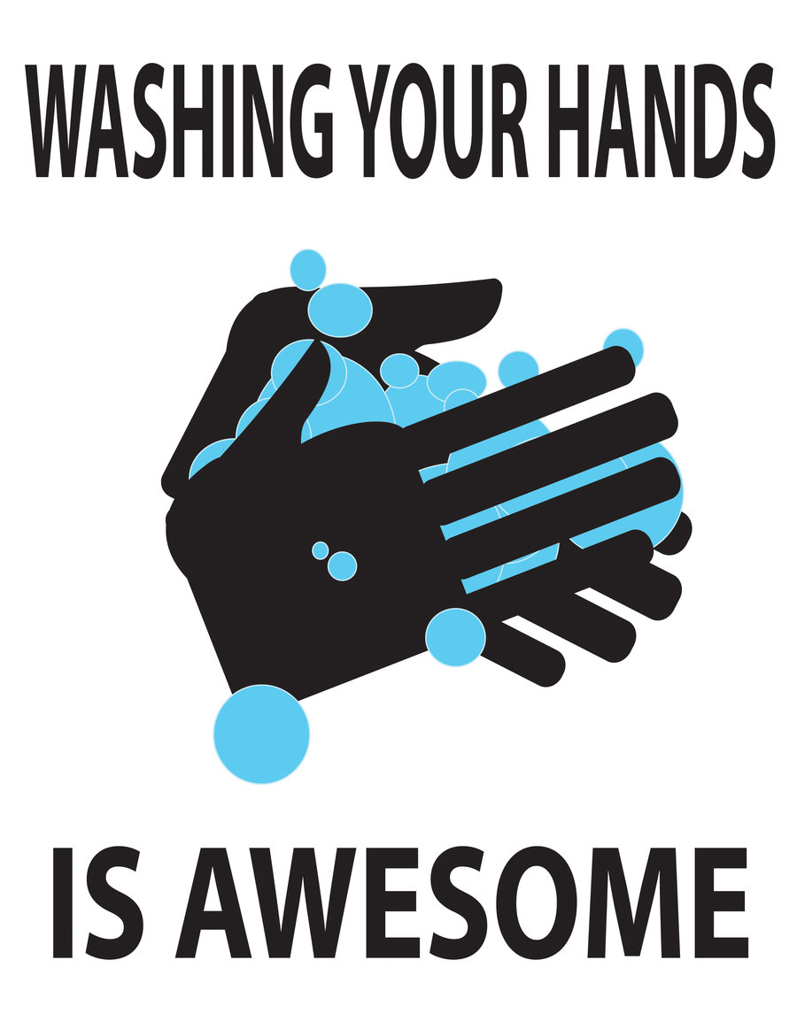 Hand washing germs hot water kills most germs