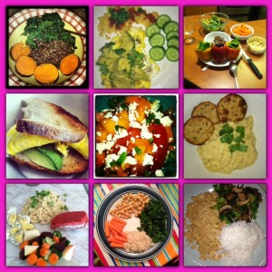 A sample of some of my vegetarian meals in the past...